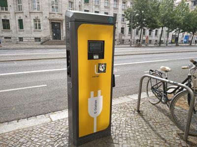 Cargador eléctrico público en Leipzig