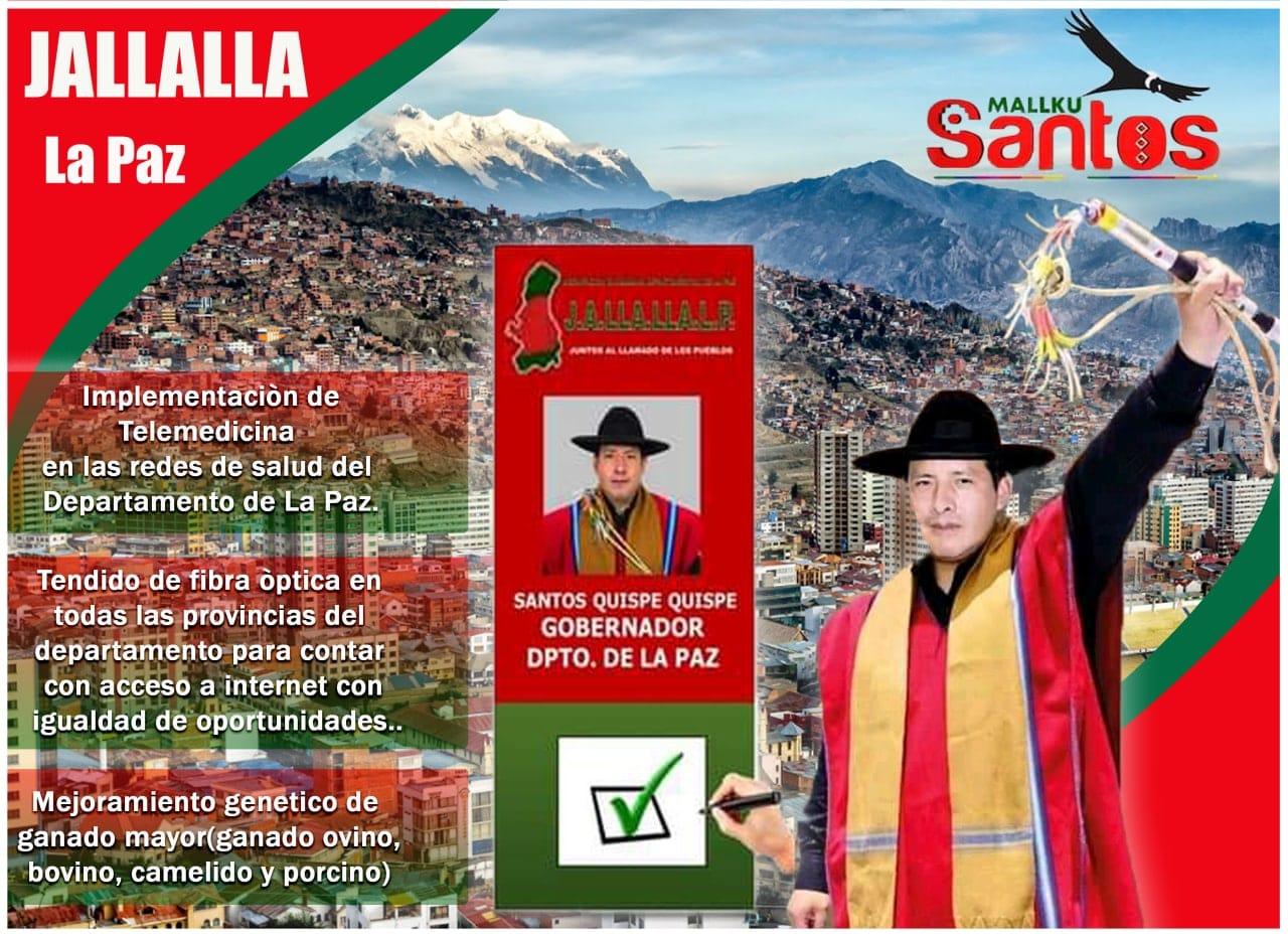 propaganda de Santos Quispe